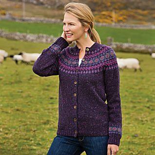 Heathered Fair Isle Cardigan