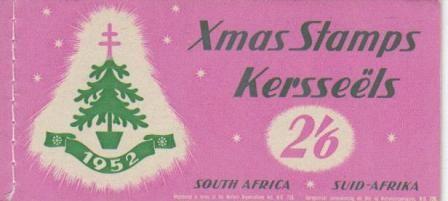 UNION SA 1952 2/6 CHRISTMAS BOOKLET COMPLETE