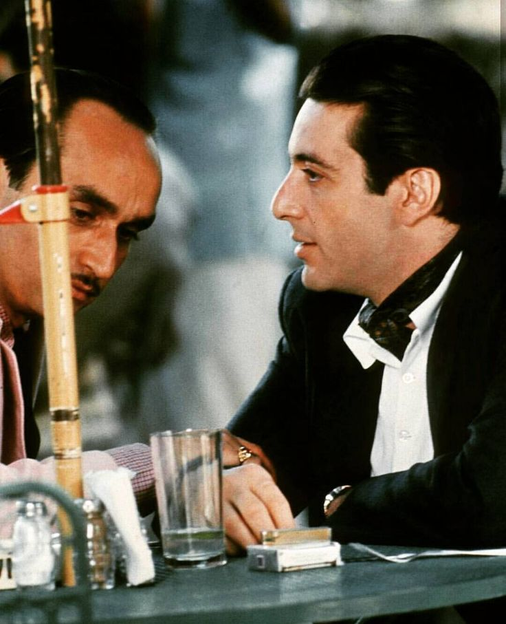 "John Canale (Fredo Corleone) and Al Pacino (brother Michael) in ""The Godfather II""."