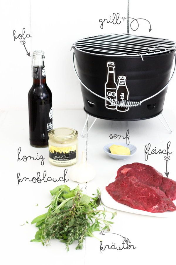 Selbstgemachte Merinade zum Grillen für Steak und Gemüse