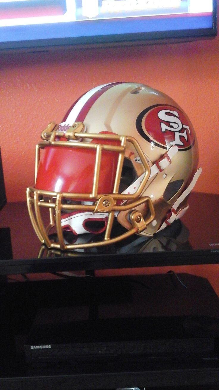 My custom 49ers helmet 49ers helmet football helmets