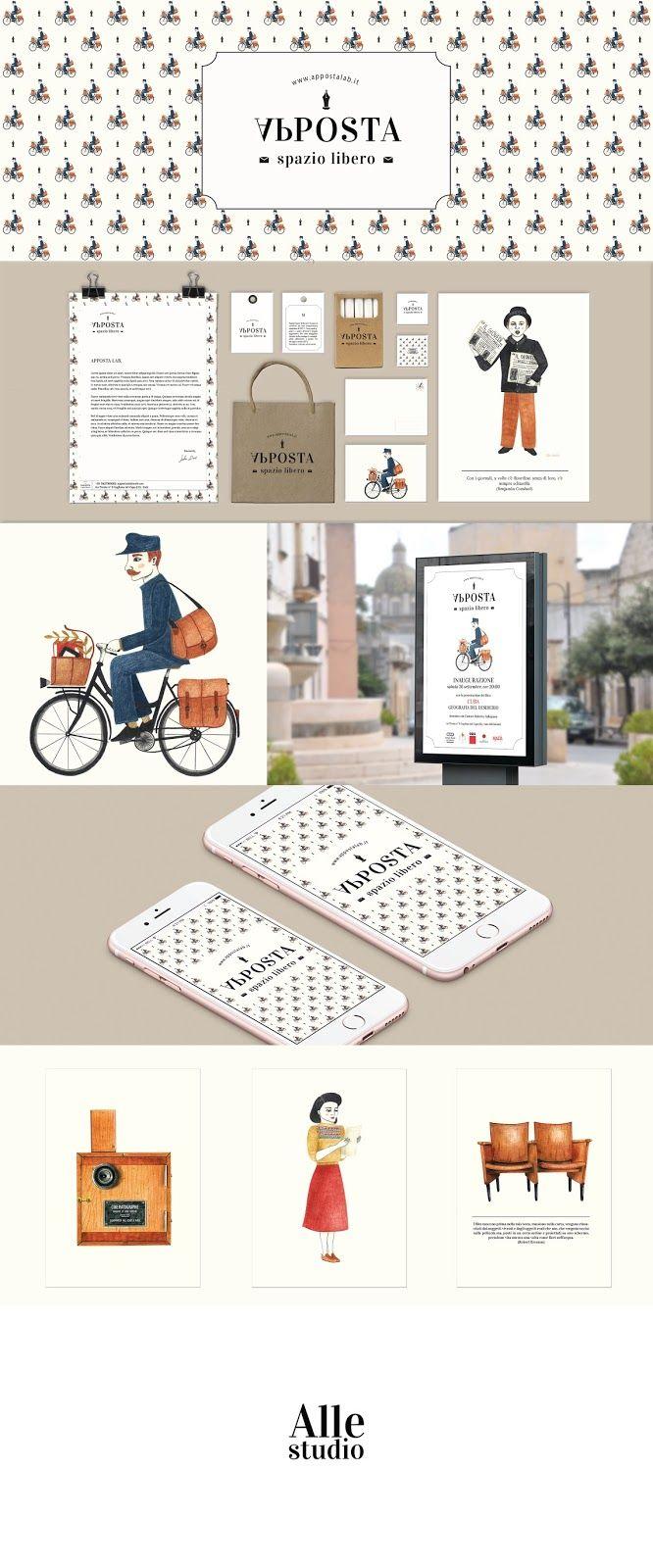 #identity #apposta #graphic #illustration #cinema #logo #postman #iphon #branding #brand