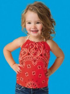 How cute is this kids bandana halter top? Find out…