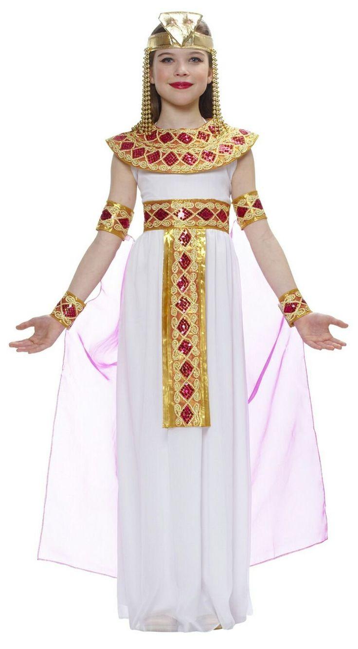 Beautifull Cleopatra Costume Girls Children Kids