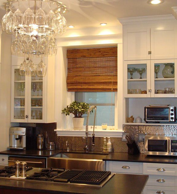 Black Glass Kitchen Countertops: 107 Best Furnishings: Bamboo Blinds Images On Pinterest