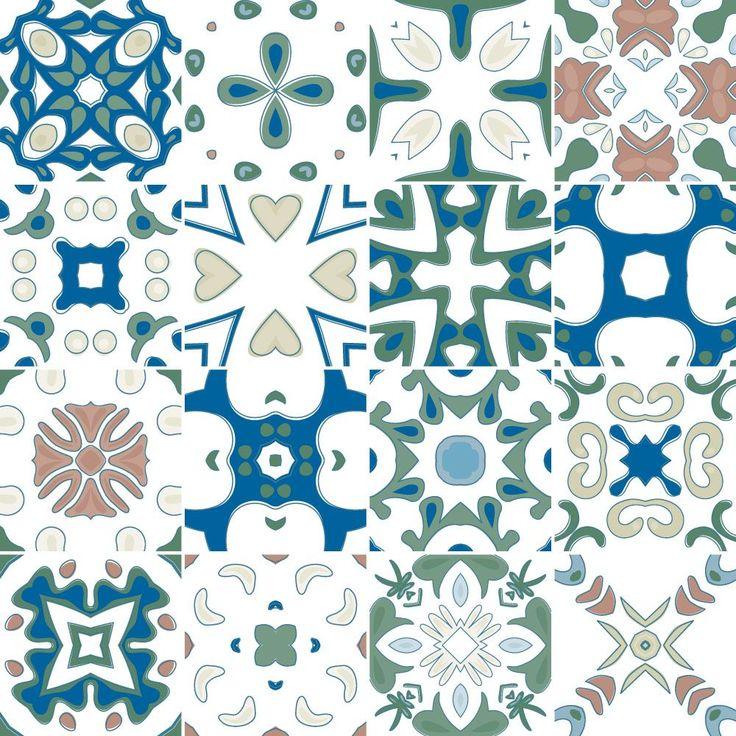 Adesivo de azulejo hidráulico 6006 décoration de la cuisineréfrigérateurs autocollantspapiers