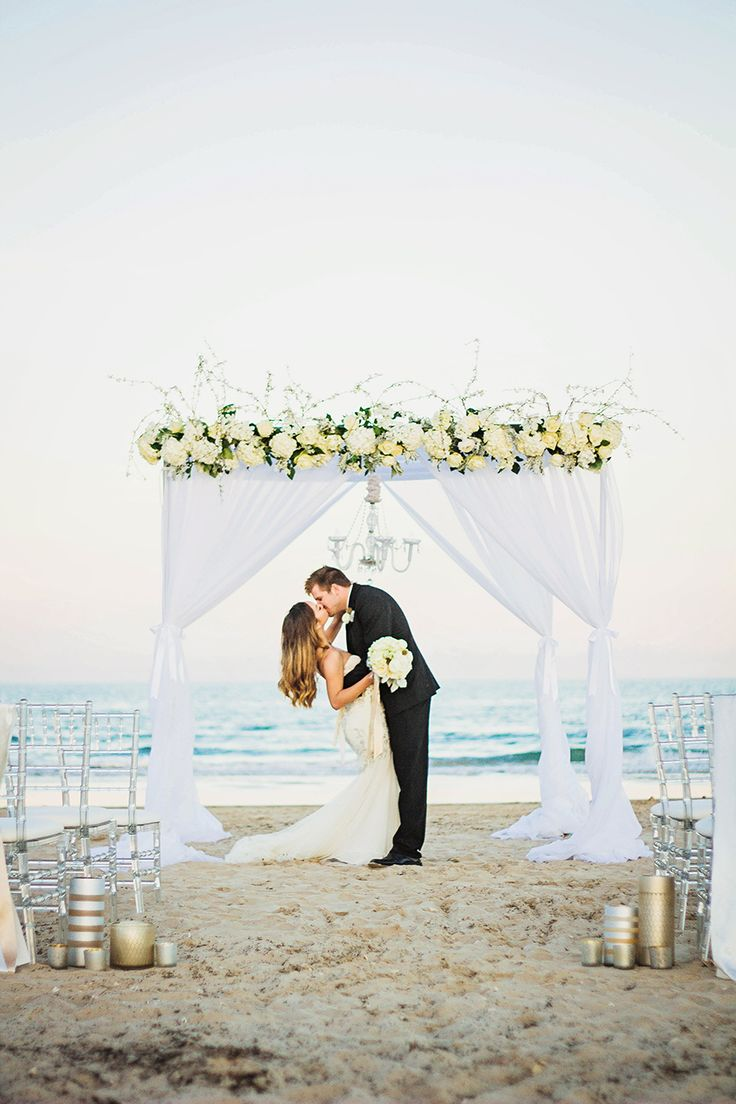 White Beach Ceremony | South Padre Island Wedding | JoAnna Dee Weddings