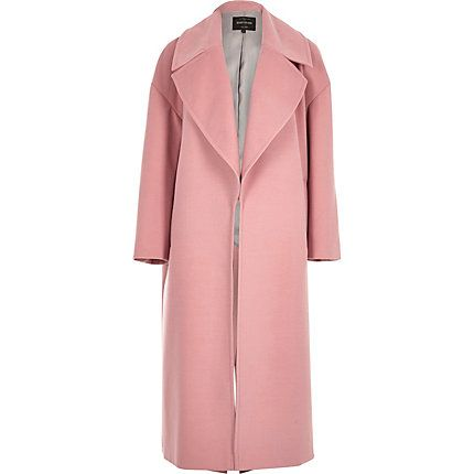 Pink soft oversized coat £120.00