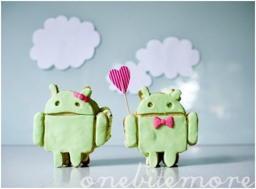 google android ice-cream sandwiches (for eating! not for using on your phone!)