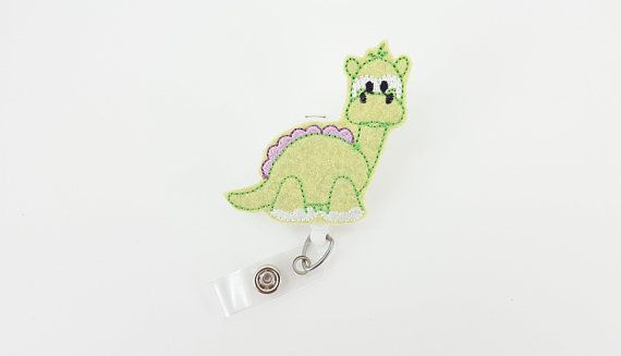 Nurse Badge Reel Badge Reels RN Retractable ID Badge Holder Pediatric Badge Clip Nurse Badge Name Badge Holder Cute Dinosaur