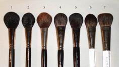 1. MAC Powder/Blush Brush #1292. MAC Blush Brush #1163. Stila Blush Brush #14. Laura Mercier Cheek Colour Brush5. Shu Uemura Natural Brush #206. Trish McEvoy Sheer Blush Brush 2B (revamped version)7. Trish McEvoy Sheer Blush Brush 2B (older version)