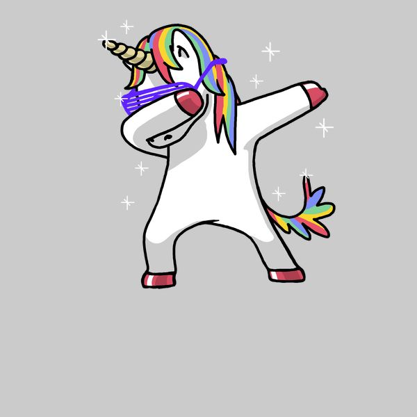 Dabbing Unicorn Shirt Dab Hip Hop Funny Magic Pink - NeatoShop