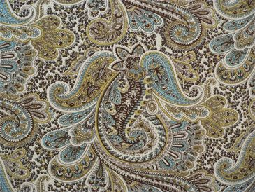Paisley Chocolate / Natural | Online Discount Drapery Fabrics and Upholstery Fabric Superstore!