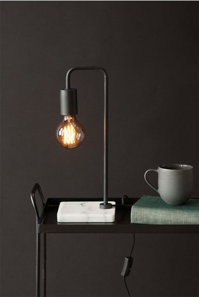 Desk / table lighting with elegant style for your home or office. Get yours at NoteMaker.com.au. Telegram Co - Dark & Stormy Collection - Desk Lamp - The Wilde