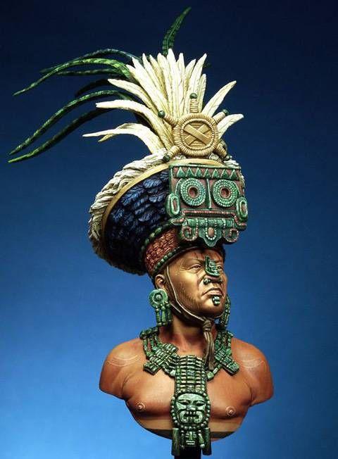 Busto Sacerdote Maya - 200 mm.