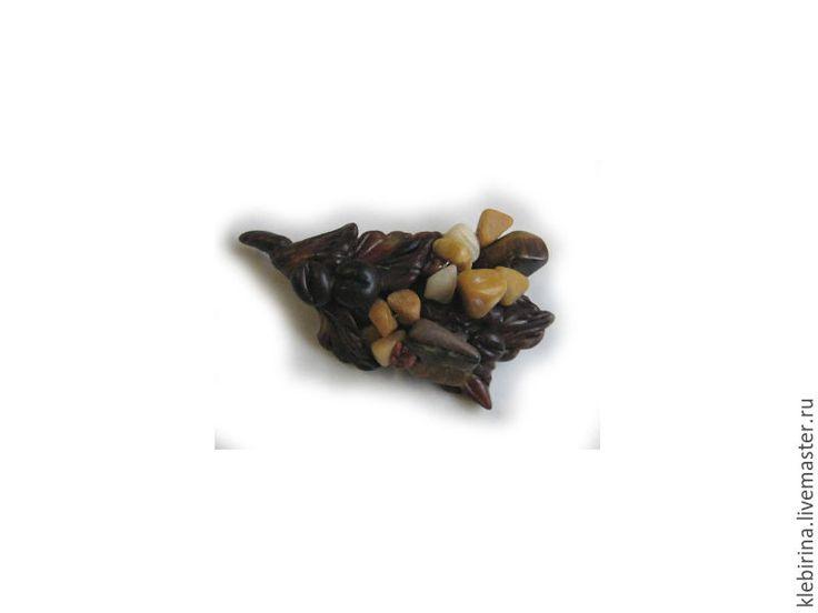 Купить Брошь - шоколадный микс Кофе и орахис, сладкий Праздник - коричневый, брошь ручной работы