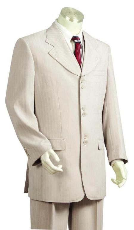 Mens 3 PC suit in off white color.