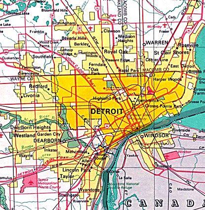 44 best detroit maps images on pinterest detroit michigan and