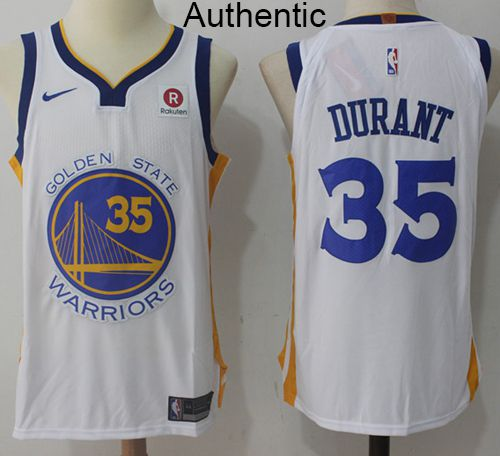 san francisco fd86f 1f3b6 Nike Warriors #35 Kevin Durant White NBA Authentic ...