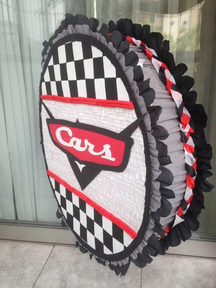piñatas en foami pintadas a mano de cars