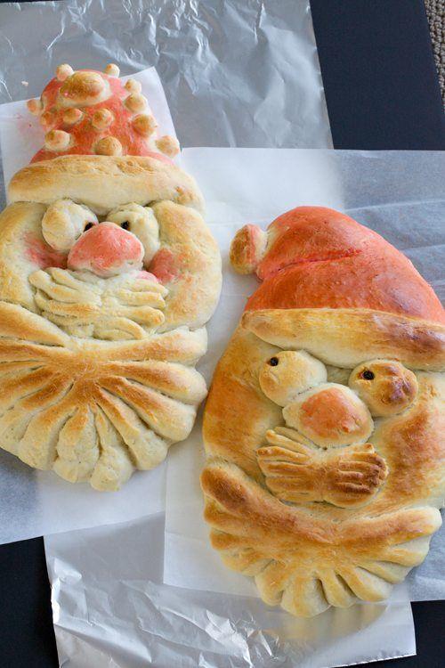 Santa Bread Recipe-Martha Stewart