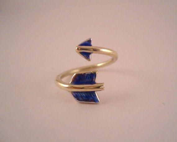 Guarda questo articolo nel mio negozio Etsy https://www.etsy.com/it/listing/267090365/anello-freccia-smaltato-anello-anello