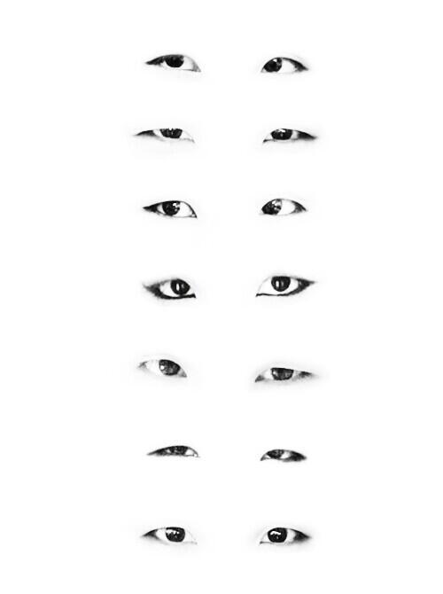 Bangtan Boys' eyes,  Interesting from an art perspective