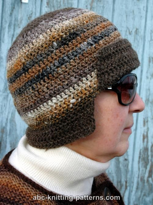 ABC Knitting Patterns - Mini Bomber Hat