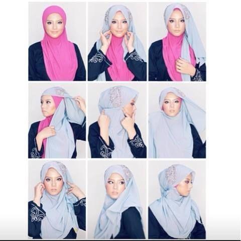 side swept hijab tutorial