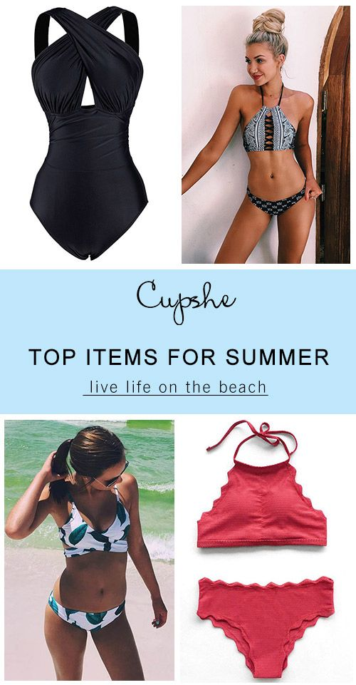 Live life on the beach~ Cupshe have pick various style swimsuits for you to have a try. It is the only best must-have for beach trips.