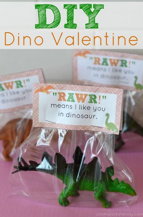 So fun! Dino Valentine DIY + printable