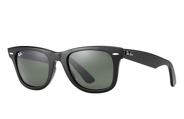 $150 Ray-Ban 0RB2140  - ORIGINAL WAYFARER CLASSIC SUN | Frame Color: Black. Lens Color: Black. Size: 50 22 (STD)