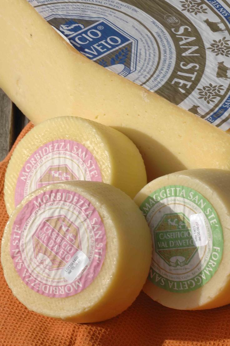 Il San Sté, formaggio tipico della Val d'Aveto, entroterra genovese, Liguria
