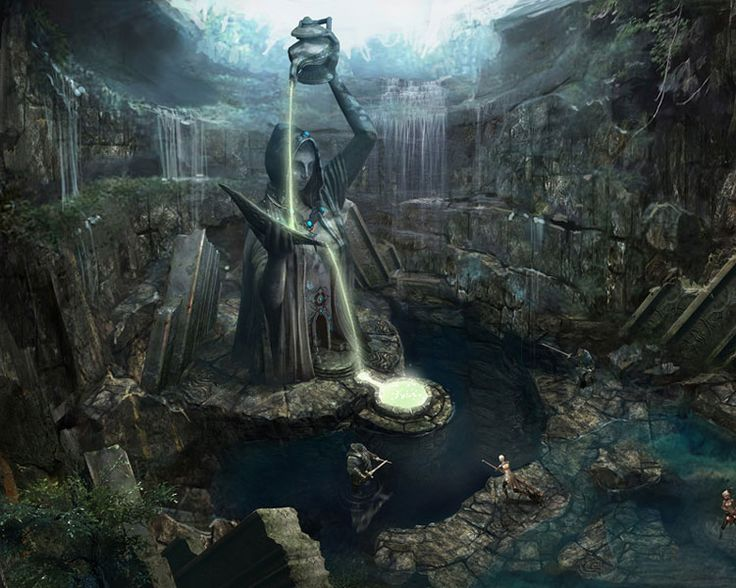 Tera Environment Concept Art. The design is ancient and powerful. This environment should be created for war or mission games.