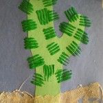 fork painted cactus