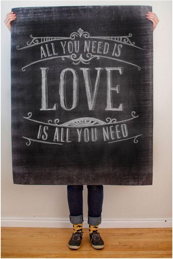 poppytalk: 25 love posters to make