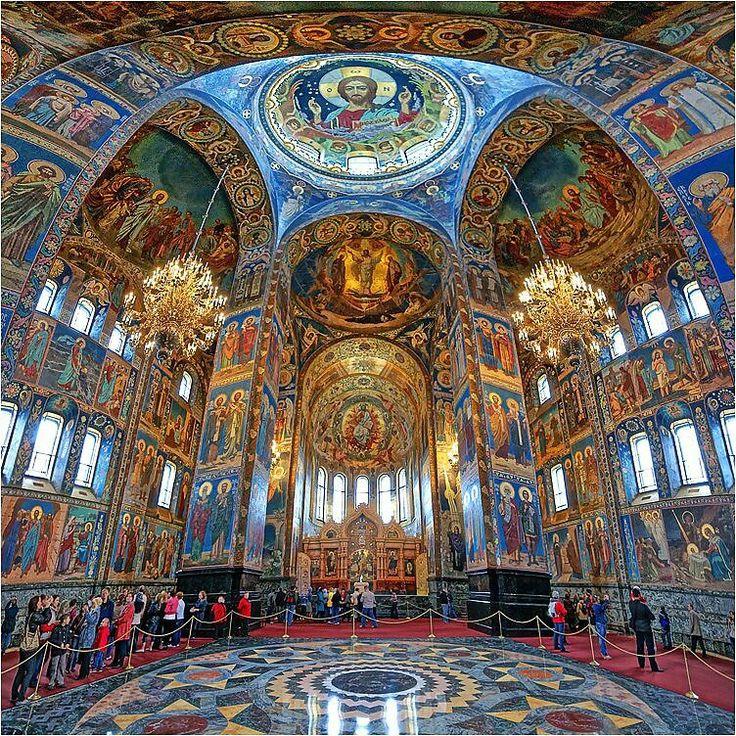 Russian Orthodox Church in Saint-Petersburg, Russia