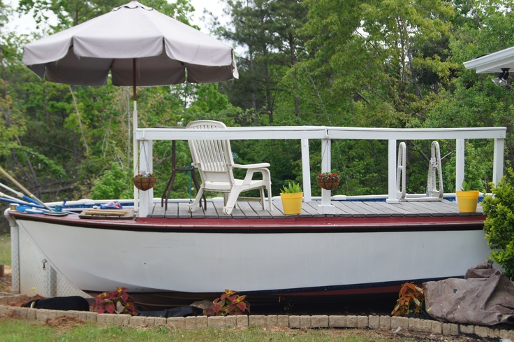 I took an old boat i found on craigslist for free and made - Craigslist swimming pools for sale ...