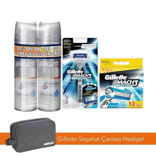 Gillette Mach3 Turbo Tıraş Makinesi Süper Kampanya Seti ::