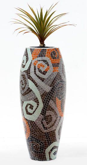 Obbligato Plant Pots - F1100_F mosaic pot