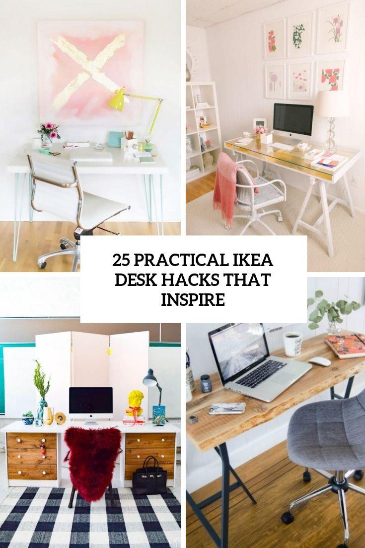 25 Practical Ikea Desk Hacks That Inspire In 2019 Ikea Desk Desk Hacks Ikea Kallax Desk