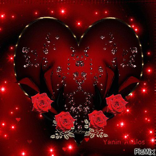 Imágenes de corazones de amor con movimiento