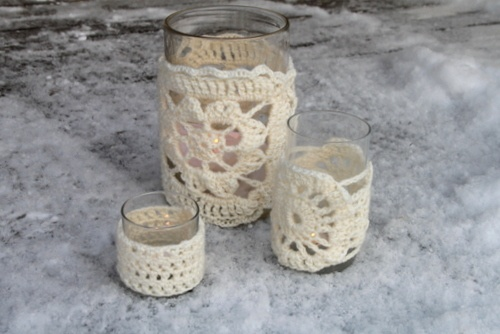 Crocheted votives