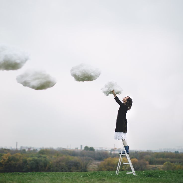 Dasha Pears conceptual photography, clouds