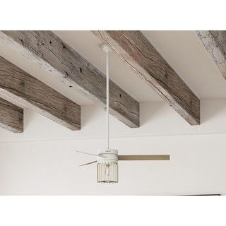 Shop for Hunter Ronan Fresh White and Modern Brass 52-inch 3 Aged Oak/White Grain Reversible Blades Ceiling Fan. Ships To Canada at Overstock.ca - Your Online Home Decor Outlet Store!  - 21094950