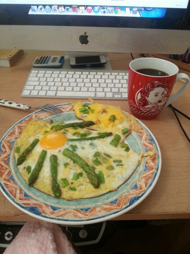 Getting creative with my 3 egg omelette :)