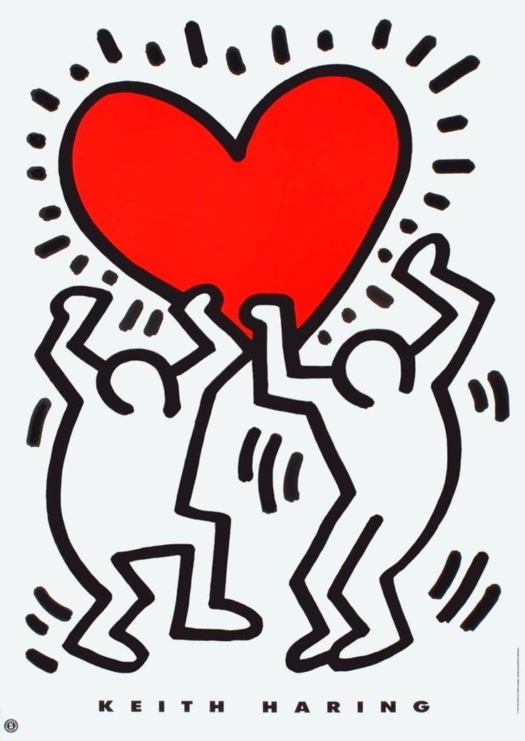 The warehouse used to be the stedelijk museum depot. Keith Haring Poster 6 Pop Art Posters Keith Haring Poster Haring Art Pop Art Posters