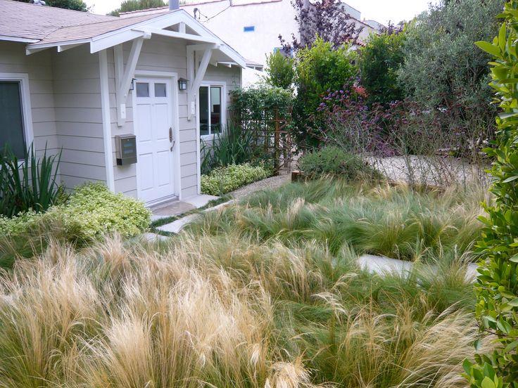 Coastal bungalow garden- no mow yard