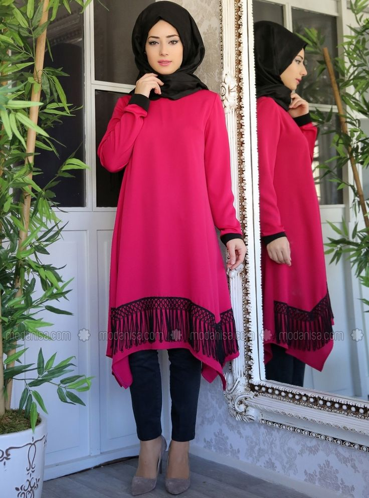 Tunique turquoise tuftés - Rose - Lef`zen