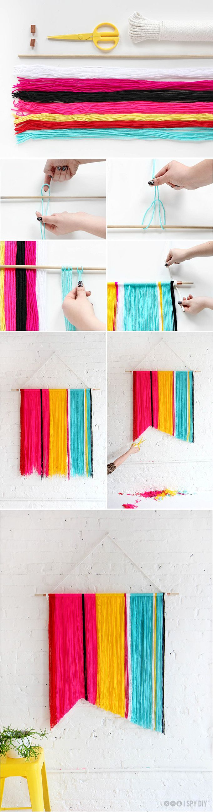 Yarn Wall Handing | I SPY DIY